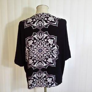 La Hearts black cardigan blazer one size